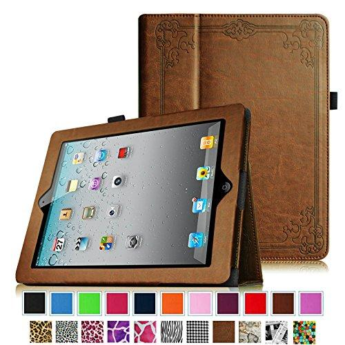 Fintie iPad 2/ iPad 3/ iPad 4 Gen Folio Case - PU Leather Cover with Auto Wake/ Sleep Feature, Vintage Antique Bronze