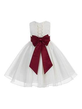 42729fd4c Product Image Ekidsbridal Ivory Lace Organza Flower Girl Dress Toddler Girl  Dresses Christening Dresses Evening Gown Girl Lace