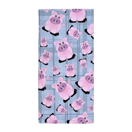 Plaid Tower (CafePress - Country Pigs On Pastel Blue Plaid - Large Beach Towel, Soft 30
