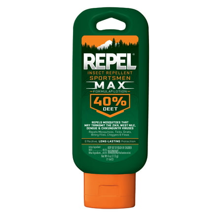 Repel Insect Repellent Sportsmen Max Formula Lotion 40 Percent Deet 4 Ounces