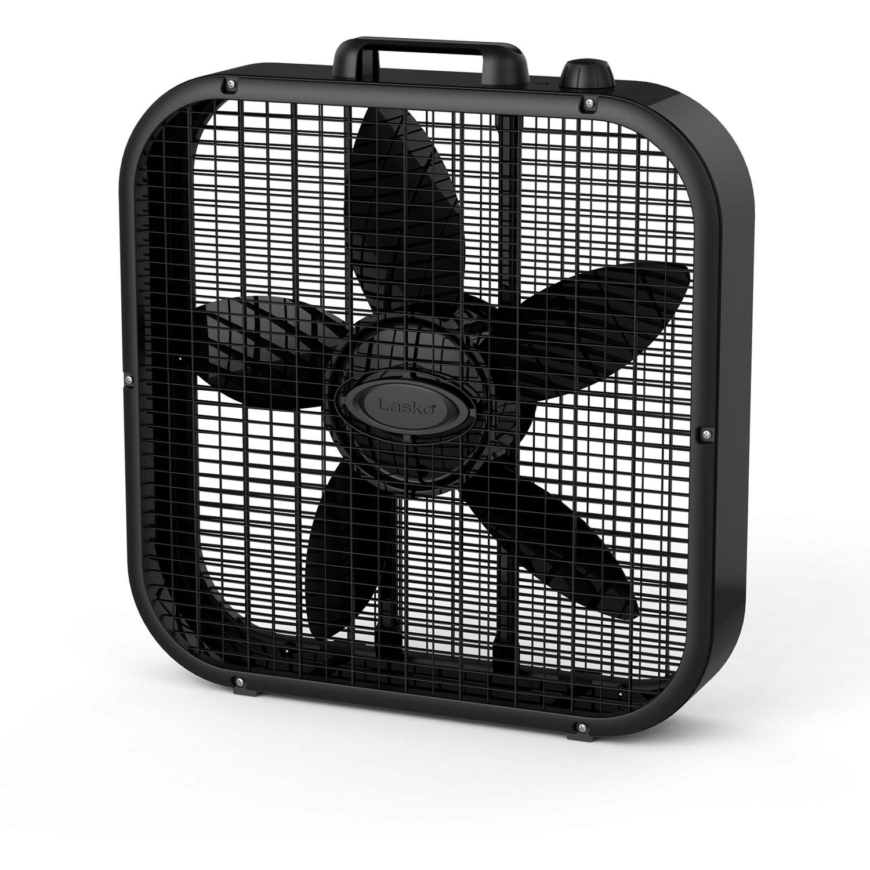 "Lasko Decor Colors 20"" Box Fan in Black"