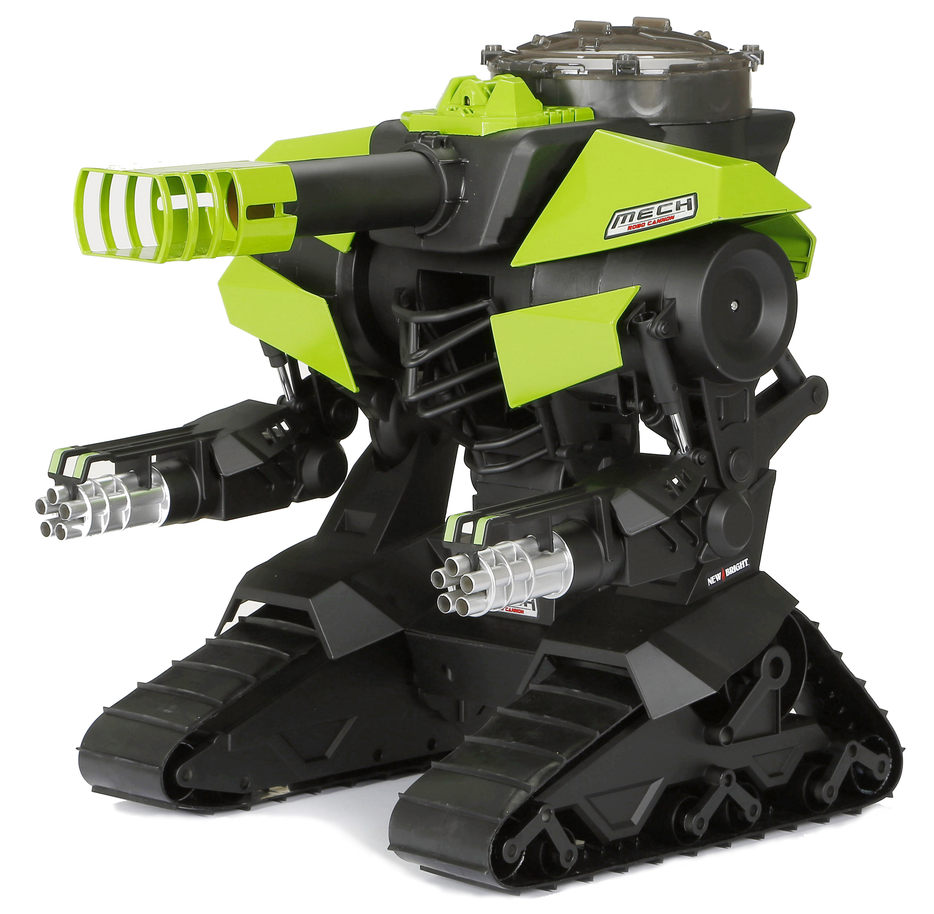 New Bright RC M.E.C.H. Robo Cannon Radio Control Blaster Robot- Green and Black