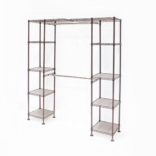 Seville classics 58 83w expandable closet organizer system bronze