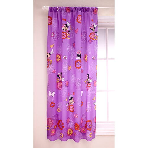 Disney Minnie Girls Bedroom Curtain Panel by Crown Crafts