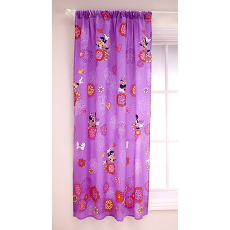 Disney Minnie Girls Bedroom Curtain Panel - Walmart.com