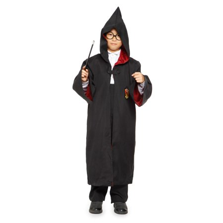 Adult Kids Harry Potter Hooded Wizard Cloak Robe Cape Costume Fancy Dress-Gryffindor
