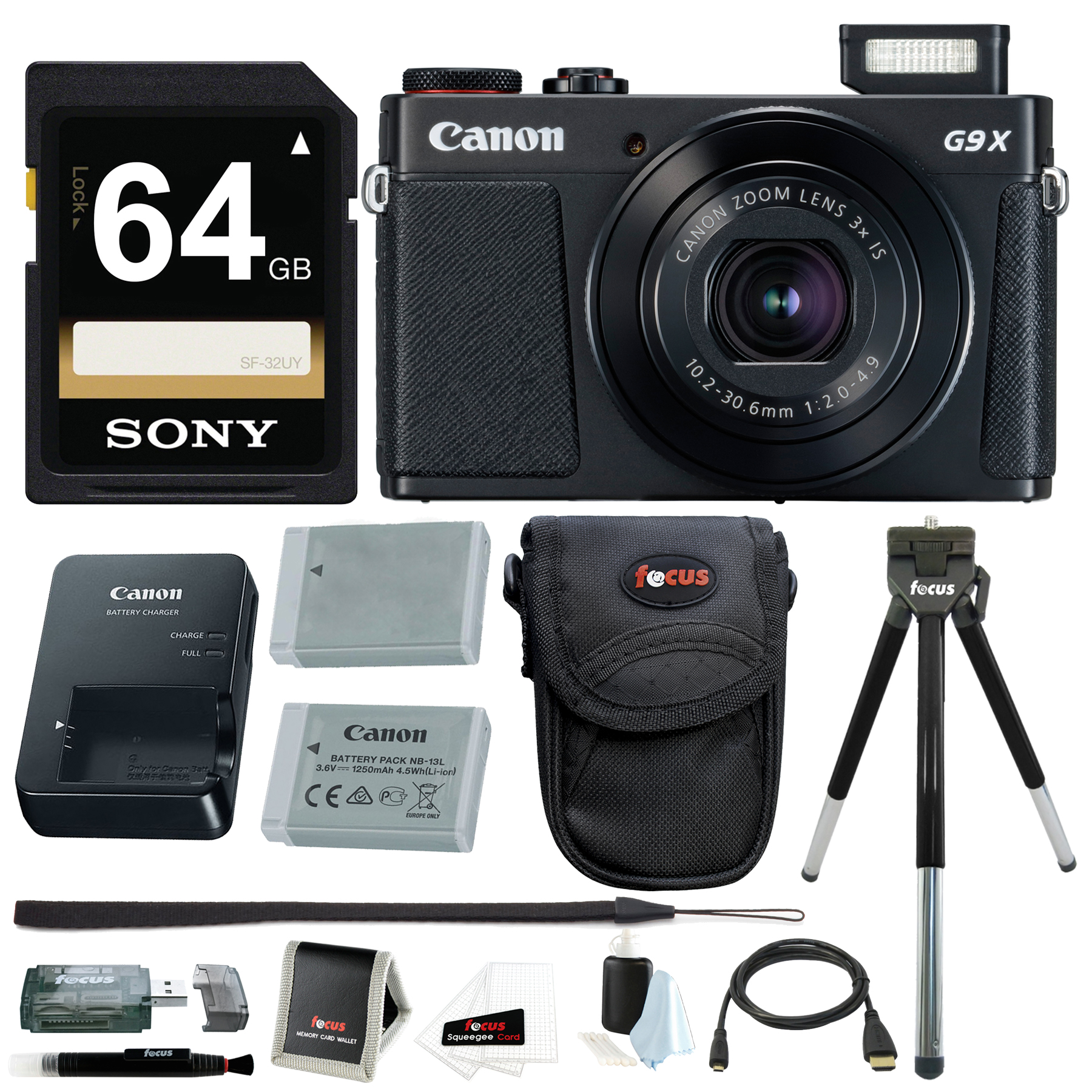 Canon Powershot G9 X Mark II Digital Camera with 64GB Car...