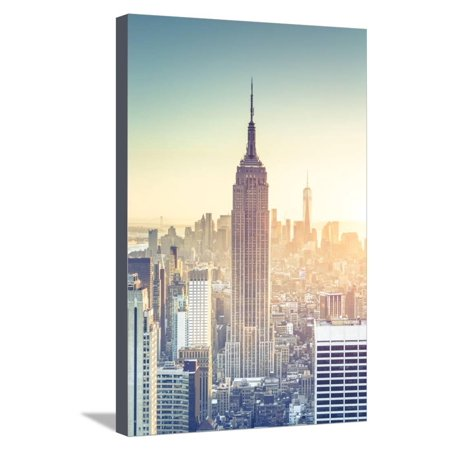 Usa, New York, New York City, Empire State Building and Midtown Manhattan Skyline Stretched Canvas Print Wall Art By Michele - Midtown Party City