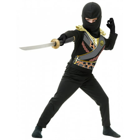 Black Men Costume (Ninja Avengers Series 4 with Armor Child Costume Black -)