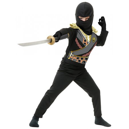 Ninja Avengers Series 4 with Armor Child Costume Black - Small](Black Ninja Costume)