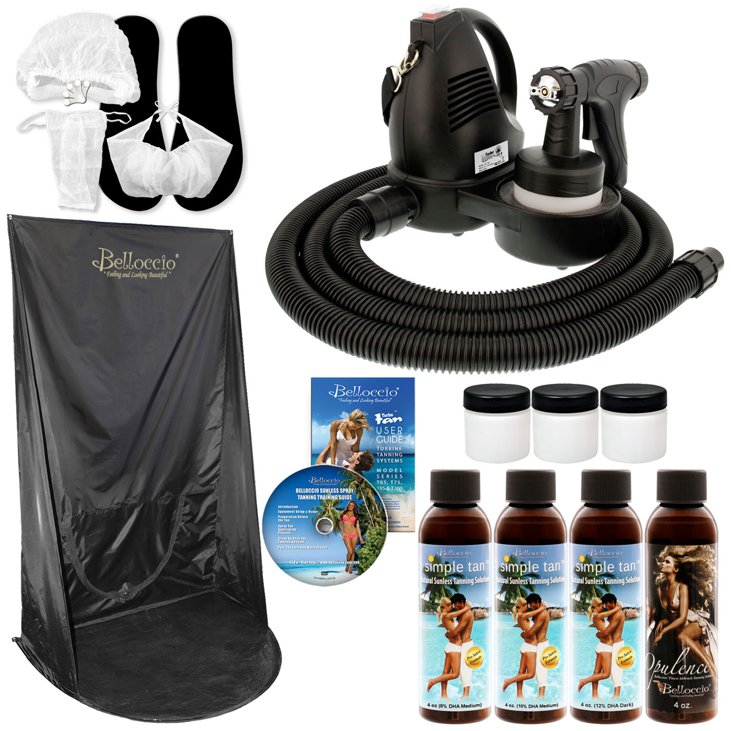Sunless Airbrush HVLP SPRAY TANNING SYSTEM Simple Tan Sol...
