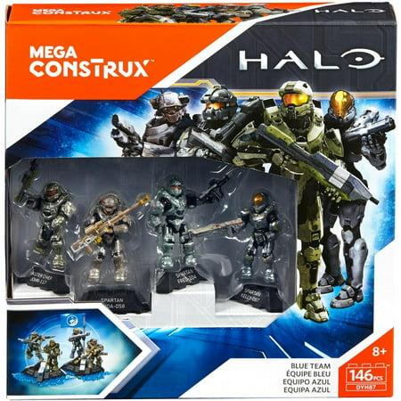 Mega Construx Halo Blue Team Building Set Walmart