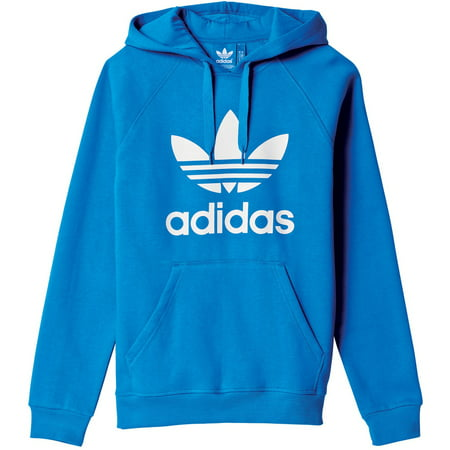 Adidas La Lakers Sweatshirt - New Mens Adidas Original Mens Trefoil Fleece Hoodie Hooded Sweatshirt Pullover Jumper Blue