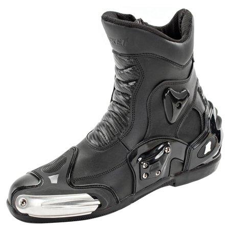 Joe Rocket Superstreet Mens Black Leather Boots Walmartcom