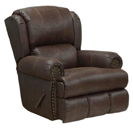 catnapper dempsey deluxe leather lay flat recliner in