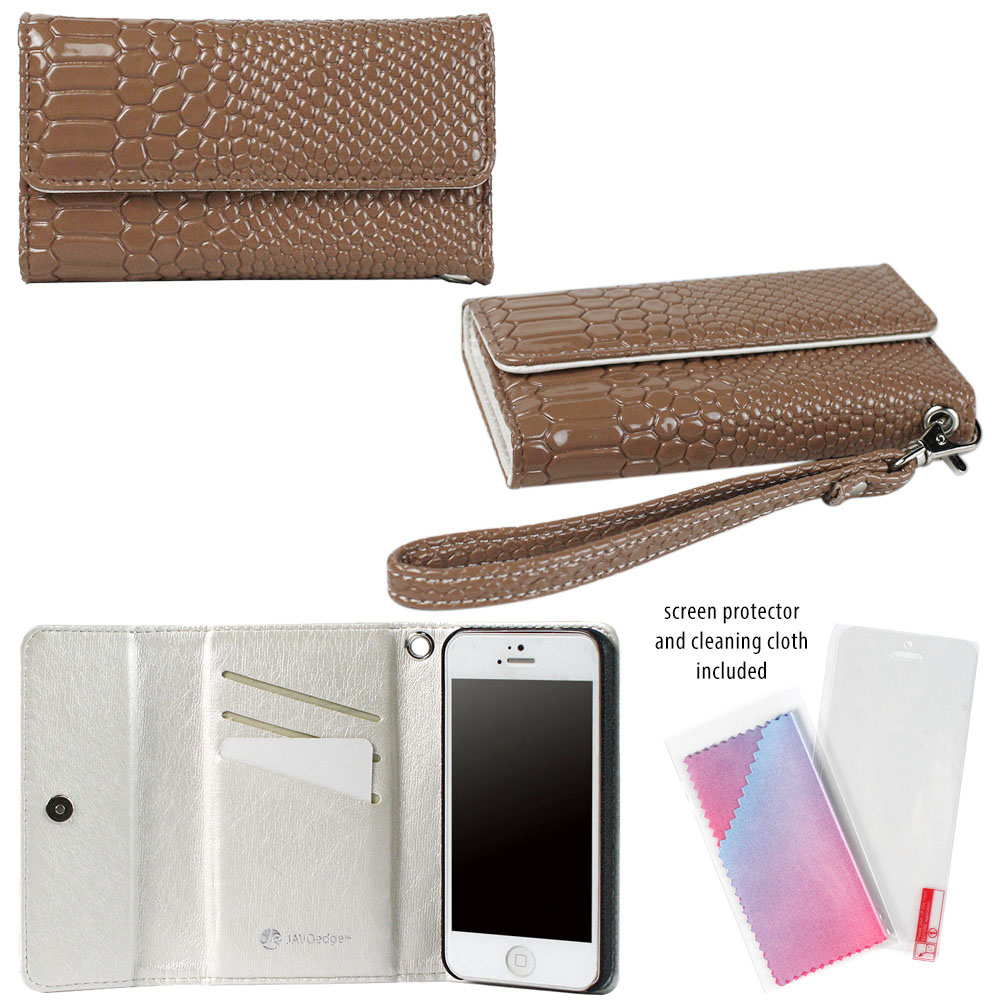 JAVOedge Wallet Case with Wristlet for Apple iPhone 5 - G