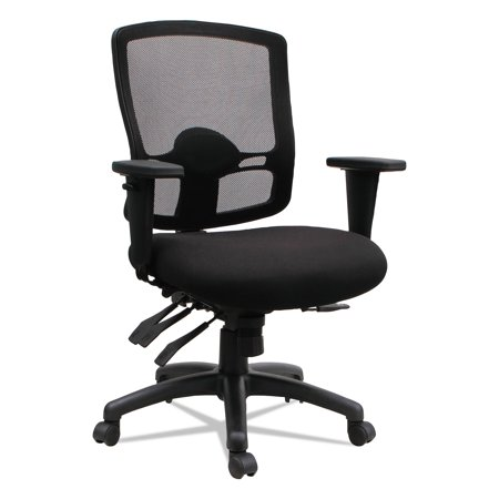 Etros Series Petite Mid-Back Multifunction Mesh Office Chair, Black (Petite Office Chairs)