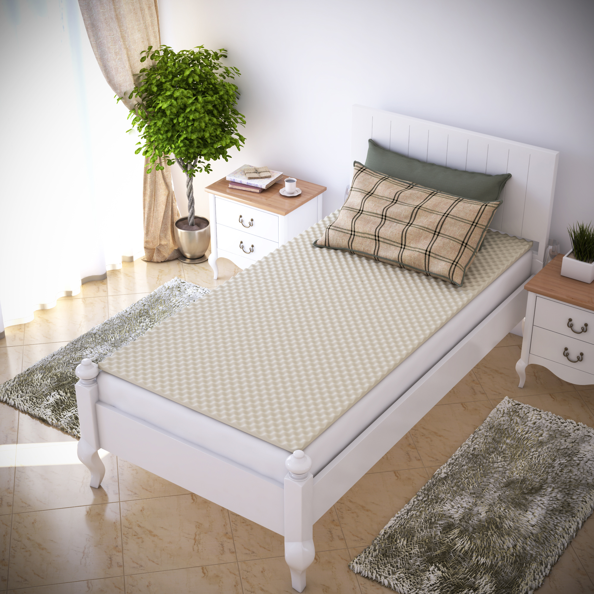 Egg Crate Mattress Topper - Twin and Twin XL - Designed to add extra comfort and support - by Everyday Home