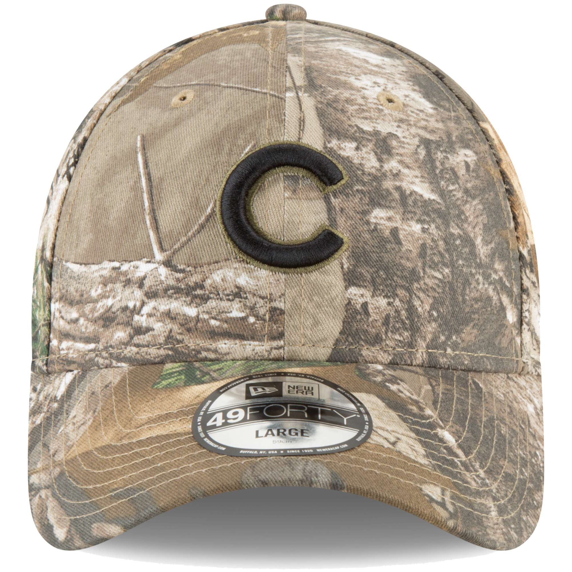 1357908d2dd Chicago Cubs New Era Realtree 49FORTY Fitted Hat - Camo - Walmart.com