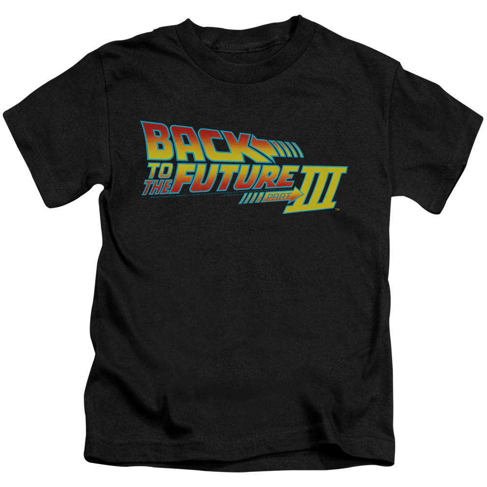 Back To The Future Iii Logo Little Boys Juvy Shirt