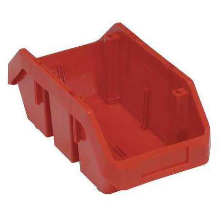 Quantum Storage Systems 40 lb Capacity, Cross-Stacking Bin, Double Hopper, Red QP1265RD