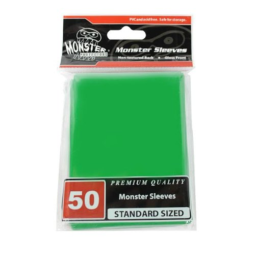 Sleeves - Monster Protector Sleeves - Standard Size Gloss - Green (Fits MTG Magic the Gathering an Multi-Colored