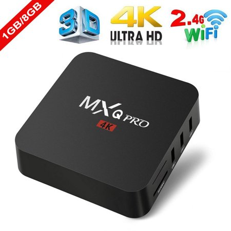MXQ Pro 4K Android TV Box RK3229 Quard-core 1G+8G Wi-Fi Embedded UHD 4K  H 264 Media Center Smart OTT TV Box
