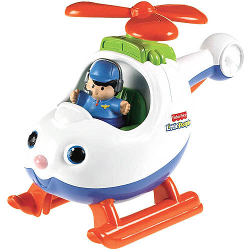 Fisher-Price Little People Lil' Movers Spin 'N Fly Helicopter
