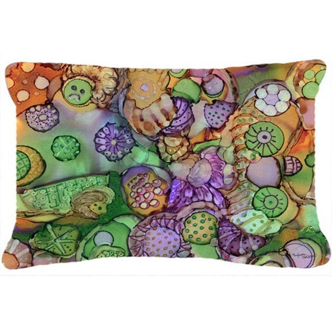 Carolines Treasures 40PW40 Abstract In Purple Green Orange Inspiration Purple And Green Decorative Pillows