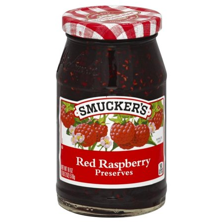 (2 Pack) Smucker's Red Raspberry Preserves, 18-Ounce