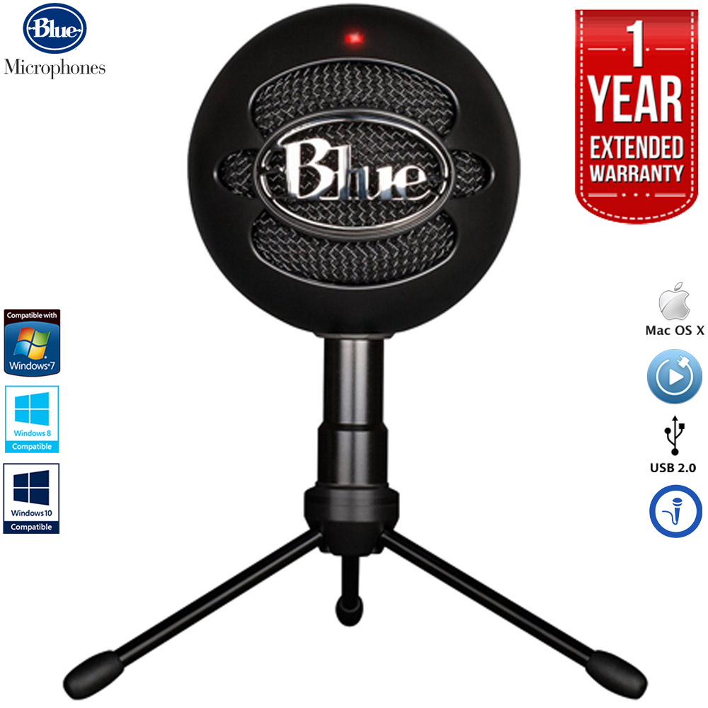 Blue Microphones Snowball iCE Versatile USB Microphone - Black with 1 Year Extended Warranty
