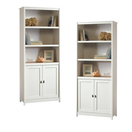 (Set of 2) Cottage Style 3 Shelf Bookcase in Soft White