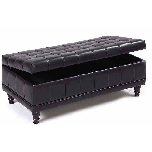 Sanford Leather Storage Bench, Multiple Colors