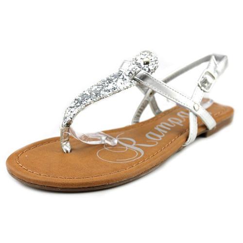 Rampage Ricksie Women US 6.5 Silver Thong Sandal