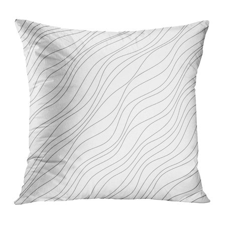BOSDECO Pattern Abstract Irregular Diagonal Simple Slanting Lines Black and White Drawing Dynamical Freestyle PillowCase Pillow Cover 20x20 inch - image 1 of 1