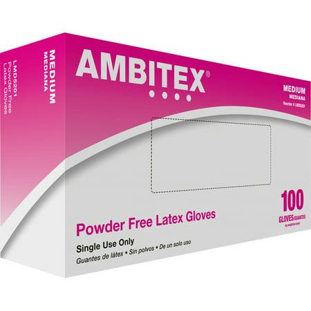 Ambitex Latex Powder Free General Purpose Glove Non-Sterile Powder-Free