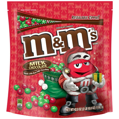 Christmas Candy Kit - M&M's Christmas Holiday Milk Chocolate Candy, 42 Oz.