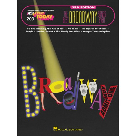 Hal Leonard Best Broadway Songs Ever 3rd Edition E-Z play