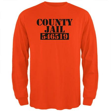 Halloween County Jail Inmate Costume Mens Long Sleeve T Shirt](Jail Halloween)