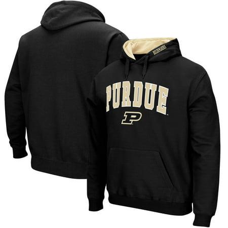 Purdue Boilermakers Big & Tall Arch & Logo Tackle Twill Hooded Sweatshirt - Black Black Tackle Twill Hoody Sweatshirt