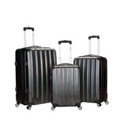 Rockland Luggage 3-Piece Metallic Hardside ABS Spinning Luggage Set