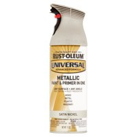 Rust-Oleum Universal All Surface Metallic Satin Nickel Spray Paint and Primer in 1, 11 oz