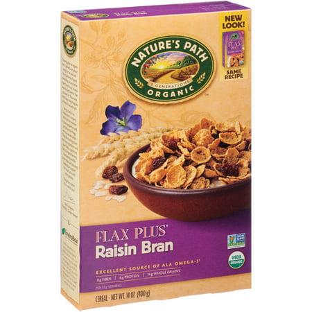 - Nature's Path Organic Flax Plus Raisin Bran Cereal, 14 oz, (Pack of 12)