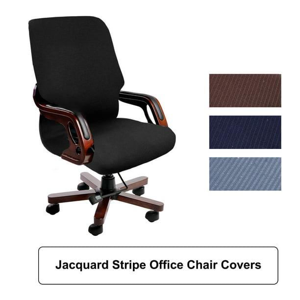 Waterproof Jacquard Office Chair Slipcover Swivel Armchair