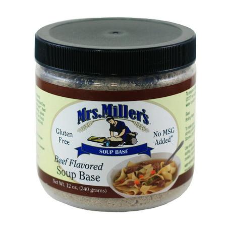 Mrs. Miller's Beef Flavored Soup Base 12 oz. (3 -