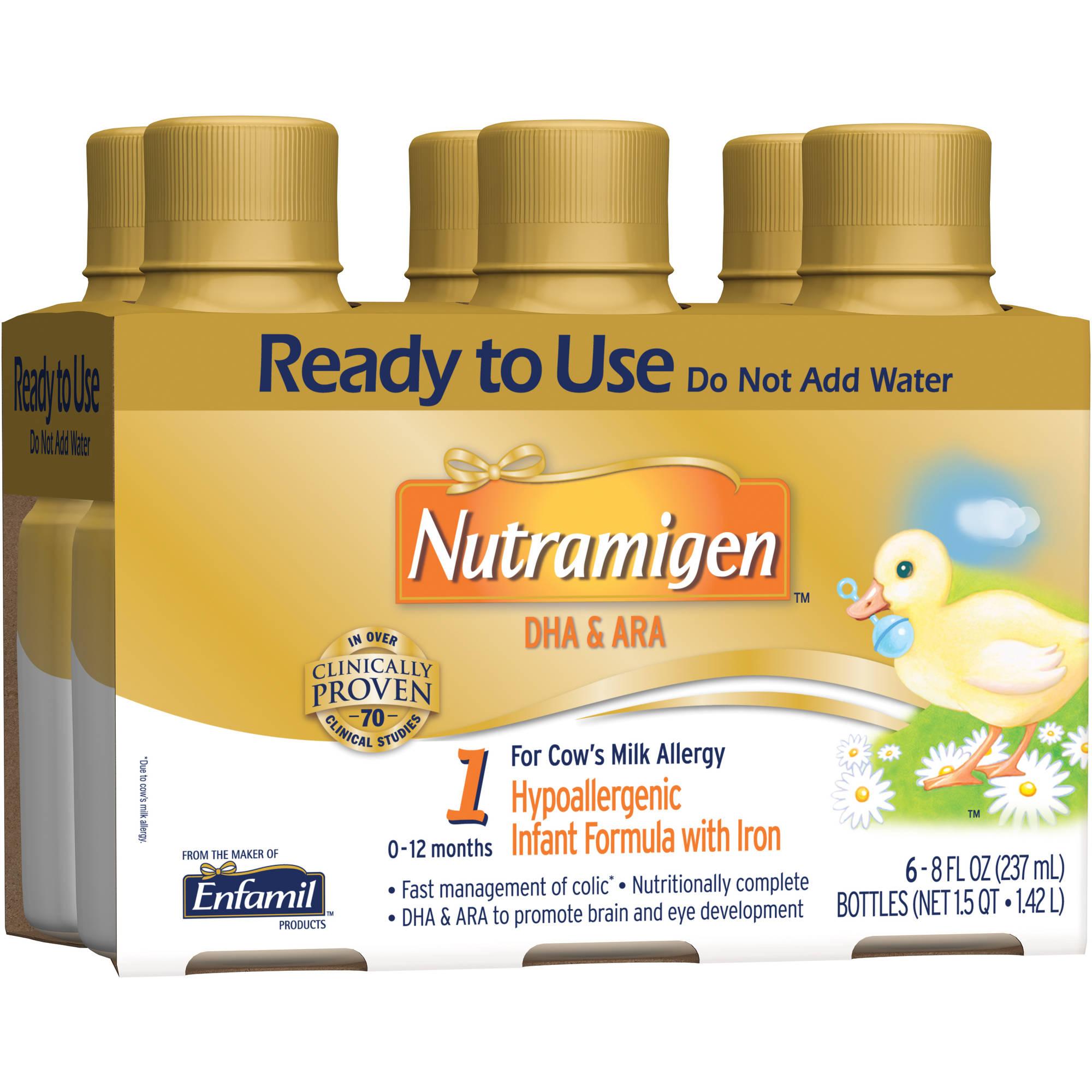 Nutramigen baby formula - 8 fl oz Plastic Bottles - 6ct, Pack of 4