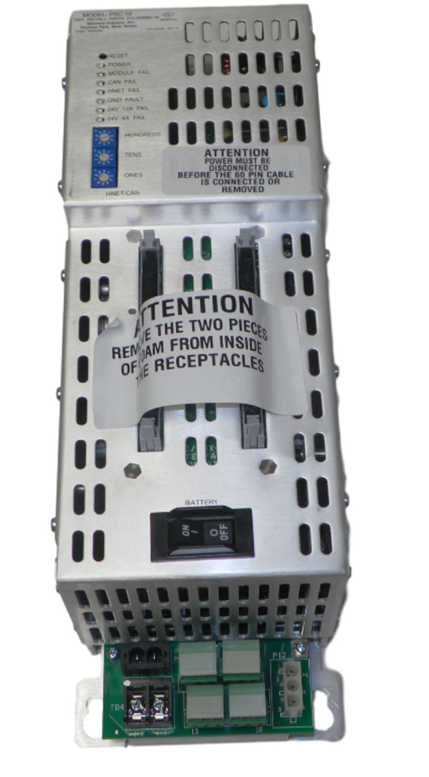 Siemens PSC-12 500-033340 Power Supply Charger Module Fire Smoke Detector Control by Siemens
