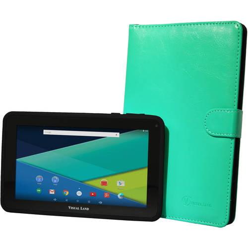"Visual Land Prestige Elite 7"" Quad Core Tablet 8GB with Bonus Keyboard Case"