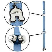 Mighty Paw Tinkle Bells   Hanging Dog Doorbells, Housetraining Doggy Door Bells for Pet Potty Training (Grey)