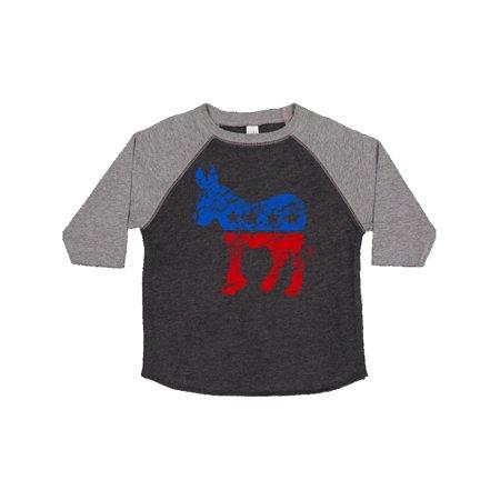 Vintage Democrat Donkey Toddler T-Shirt - Democrat Donkey